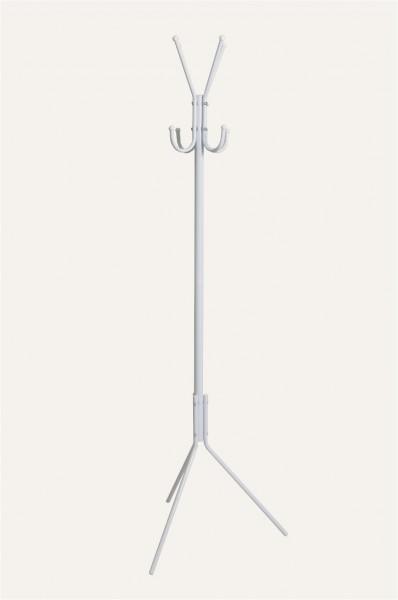 Kleiderständer Garderobenständer Hall Metall weiß mit 8 Haken 170 cm hoch 173230