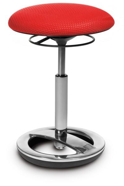 SITNESS High BOB mit Standfuß aus Aluminium poliert BT8 rot