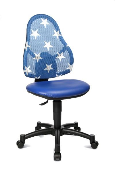 Topstar Kinder Drehstuhl Open Art Junior blau, Rücken blau mit Sternen 71430S188