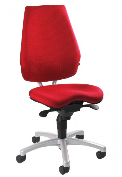 Komfort Drehstuhl Bürostuhl Alustar Basic rot mit Orthositz