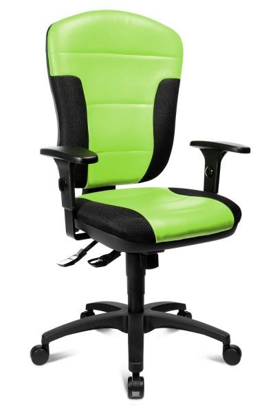 Topstar Komfort Drehstuhl Bürostuhl Speed Point SY grün - schwarz mit Armlehnen SP30PS050