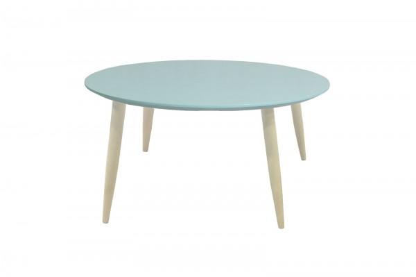 Couchtisch Beistelltisch Wohnzimmertisch Tisch Manon Platte rund grün 58 cm 387955
