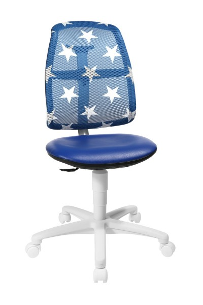 Topstar Kinder Drehstuhl S`Maxx mitwachsend Sitness Gelenk blau mit Sternen SM780S188