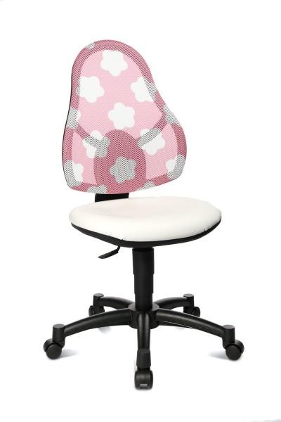 Topstar Kinder Drehstuhl Open Art Junior weiß, Rücken rosa mit Sternen 71430S037