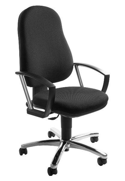 Topstar Drehstuhl Bürostuhl Action Point schwarz mit Armlehnen 7039AG20