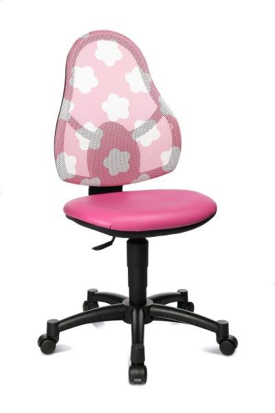 Topstar Kinder Drehstuhl Open Art Junior pink , Rücken rosa mit Sternen 71430S047
