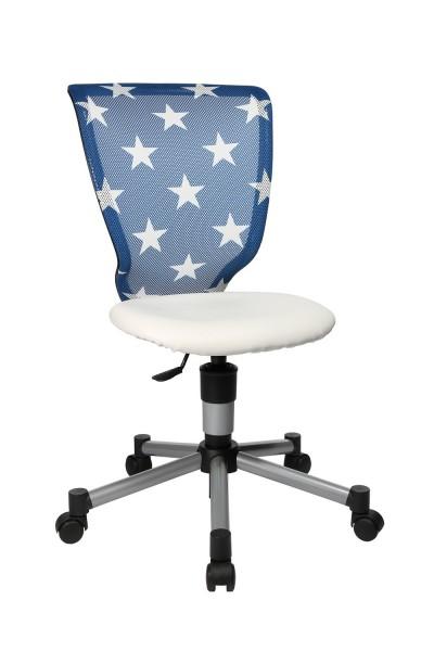Topstar Kinder Drehstuhl Bürostuhl Titan Junior blau Sterne 71487S038
