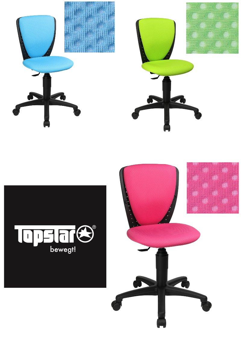 Topstar Kinder Schreibtischstuhl Stuhl High S´cool 3 apfelgrün 3-D Stoff B-Ware