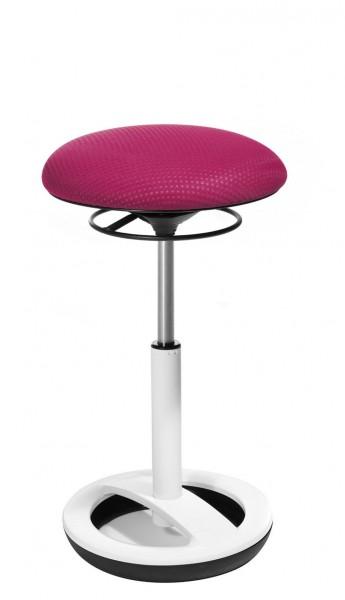 Topstar Sitness High Bob Hocker mit weißem Fußring BT7 Pink