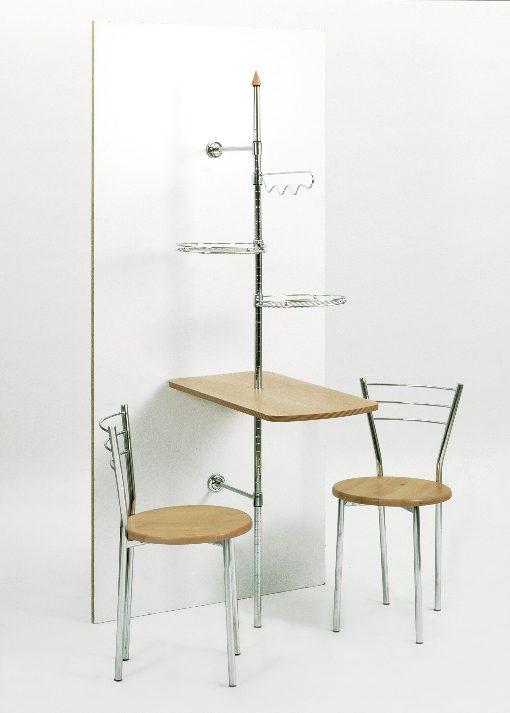 stabiler wandtisch k chendiener wands ule mit tisch. Black Bedroom Furniture Sets. Home Design Ideas
