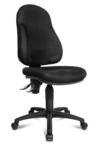 Topstar Bürostuhl Drehstuhl Wellpoint 10 schwarz, Muldensitz + hohe Rückenlehne 8050BC0