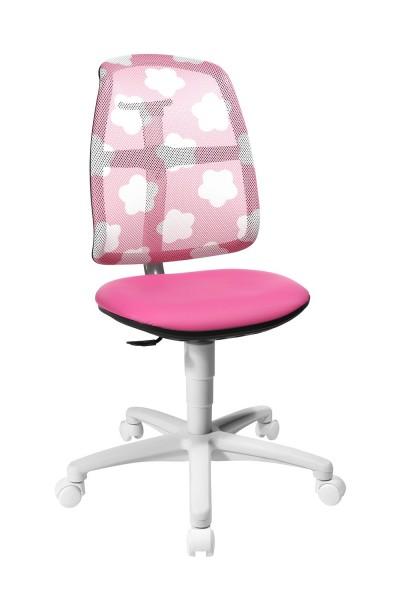 Topstar Kinder Drehstuhl S`Maxx mitwachsend Sitness Gelenk Pink mit Wolken SM780S047