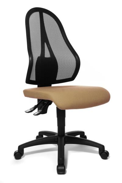 Topstar Drehstuhl Bürostuhl Open Point P hellbraun mit Netzgewebe schwarz OP100G07