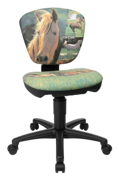 Topstar Kinder Drehstuhl Bürostuhl High Kid Horses Pferde 6920JB2