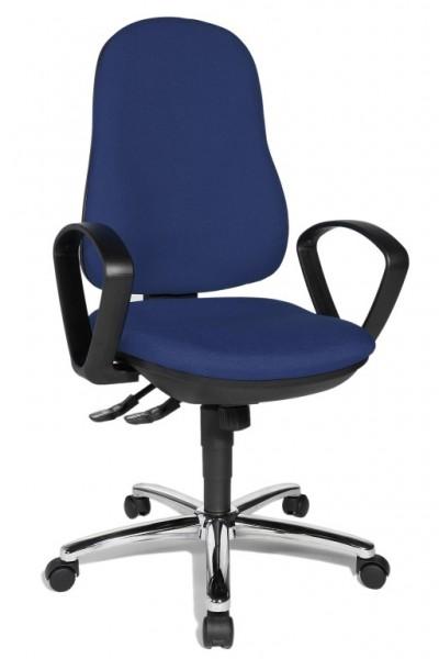 Bürostuhl Drehstuhl Synchro Steel blau von Topstar