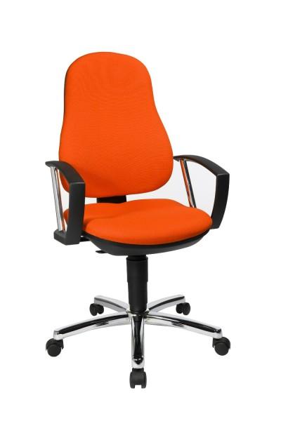 Topstar Drehstuhl Bürostuhl Support P orange bequemer Bandscheiben Drehstuhl 8549AG04