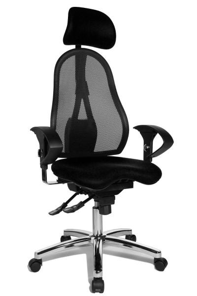 Topstar Drehstuhl Sitness 45 schwarz, höhenverstellb. Armlehnen, Kopfstütze ST99UL50X