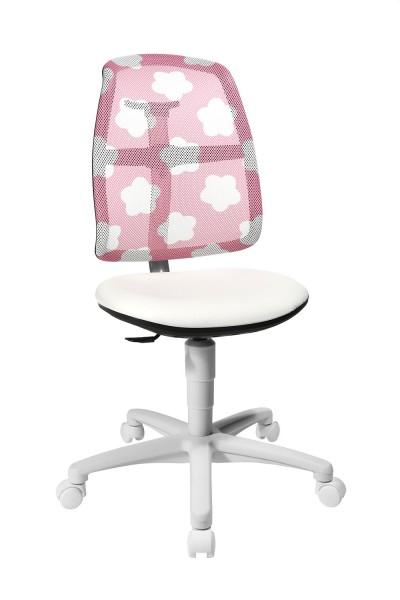 Topstar Kinder Drehstuhl S`Maxx mitwachsend Sitness Gelenk Rücken Wolken pink SM780S037