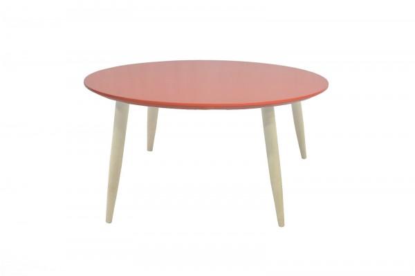 Couchtisch Beistelltisch Wohnzimmertisch Tisch Manon Platte rund rot 58 cm 387956