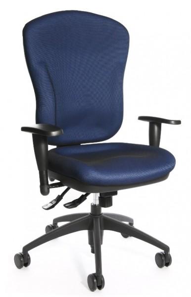 Topstar Drehstuhl Bürostuhl Wellpoint 30 SY blau mit Armlehnen 8060KG26