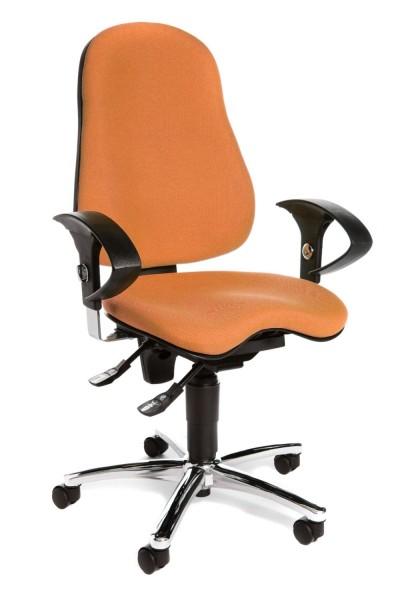 Sitness 10 mit höhenverstellbarer Armlehne U G04 Orange