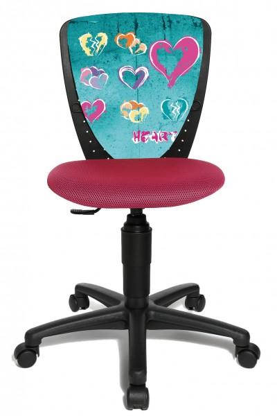 Topstar Kinder Drehstuhl Kinderschreibtischstuhl S´Cool 3 Rosa Hearts 70570JD7