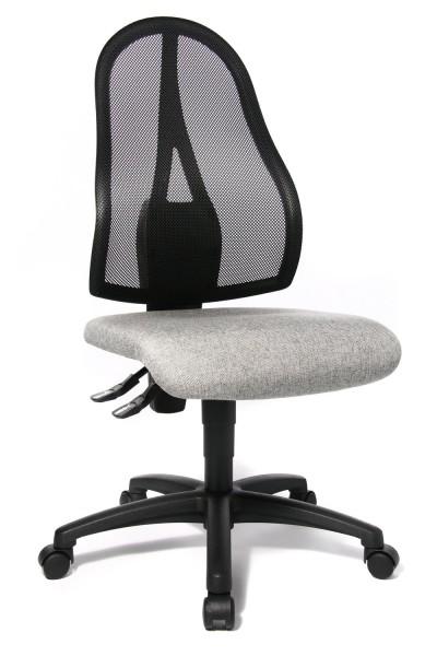 Topstar Drehstuhl Bürostuhl Open Point P grau mit Netzgewebe schwarz OP100G23
