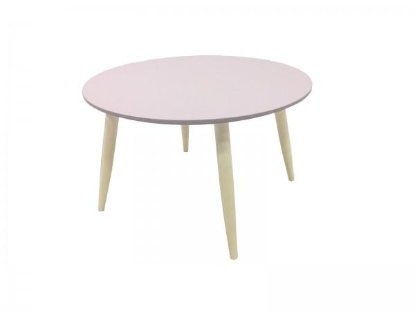 Couchtisch Beistelltisch Wohnzimmertisch Tisch Manon Platte rund rosa 58 cm 387957