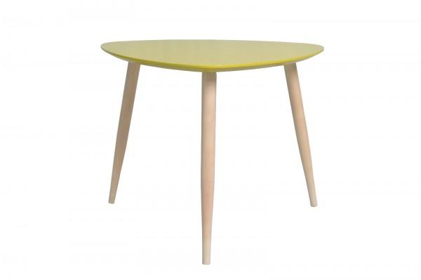 Couchtisch Wohnzimmertisch Kaffeetisch Tisch Manon Platte dreieckig grün 105 cm 386414