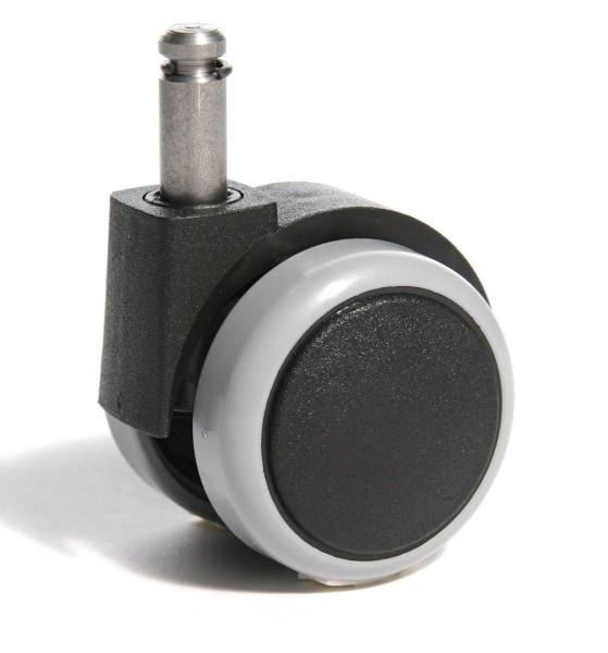 Hartbodenrollen 10 mm für spitze Fußkreuze, 10 mm Stiftdurchmesser