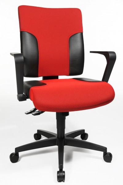 Bürostuhl Drehstuhl Two 10 rot-schwarz von Topstar