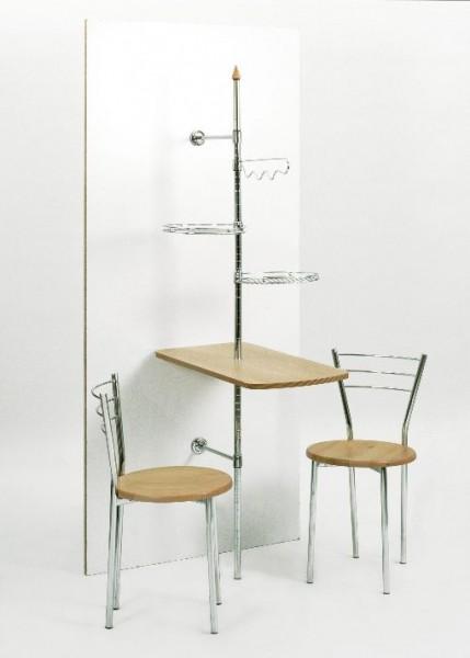 stabiler Wandtisch, Küchendiener, Wandsäule mit Tisch , Ablagen und ...