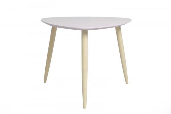 Couchtisch Wohnzimmertisch Kaffeetisch Tisch Manon Platte dreieckig rosa 105 cm 386413