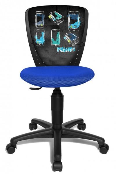 Topstar Kinder Drehstuhl Kinderschreibtischstuhl S´Cool 3 Phone Handy blau