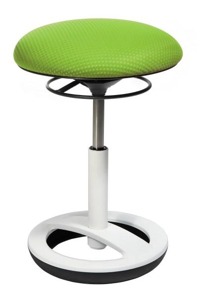 Topstar HOCKER Sitzhocker SITNESS BOB Sitz grün Gestell Alu weiß lackiert SU43BR5