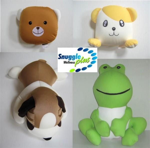 Snuggle Plus Figurenkissen Kinderkissen Reisekissen Kuschelkissen 4 Tiermotive