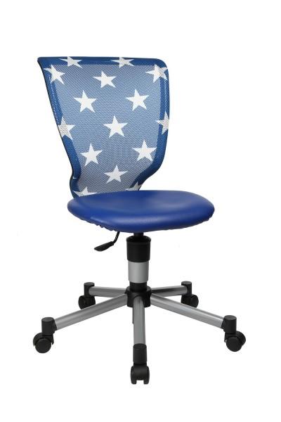 Topstar Kinder Drehstuhl Bürostuhl Titan Junior blau Sterne 71487S188