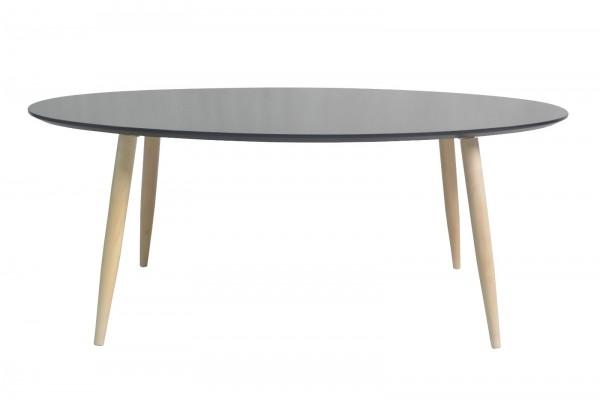 Couchtisch Wohnzimmertisch Kaffeetisch Tisch Manon oval Platte schwarz 105 cm 352431