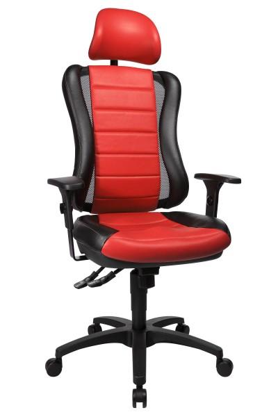 Bürostuhl Drehstuhl Chefsessel Head Point RS Synchron schw-rot Kopfstütze HE30PS101X