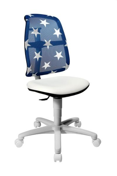 Topstar Kinder Drehstuhl S`Maxx mitwachsend Sitness Gelenk Rücken Sterne blau SM780S038