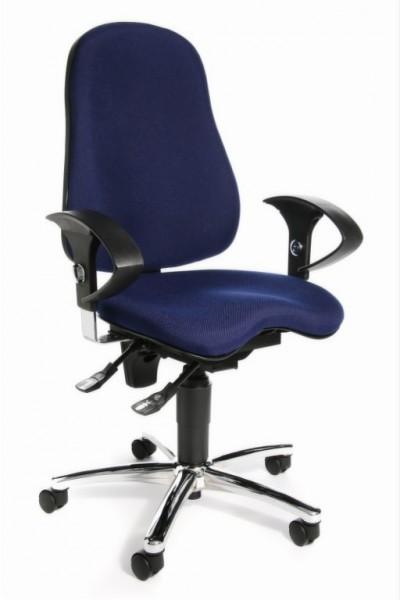 Topstar Drehstuhl Bürostuhl Sitness 10 blau Body-Balance-Tec SI59UG26