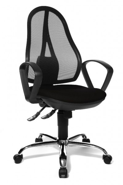 Topstar Drehstuhl Bürostuhl Arbeitsstuhl Open Point Synchro schwarz Armlehnen OP25BG20