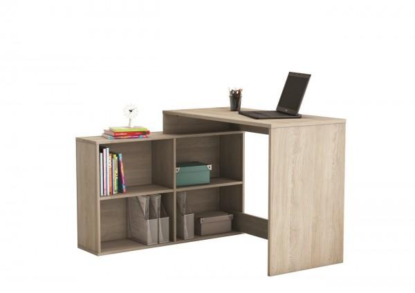 Eckschreibtisch Corner Computertisch Schreibtisch 4 Fächern Dekor Eiche Shannon 254462
