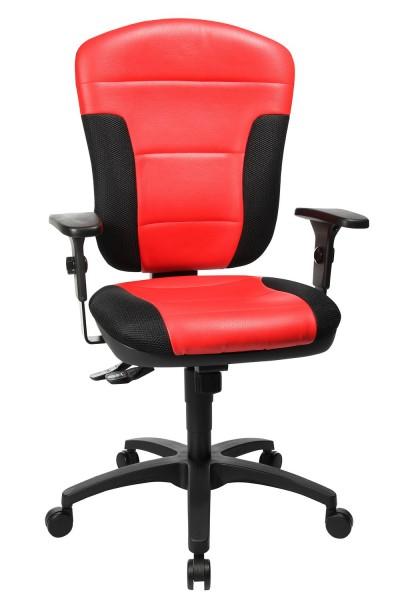 Topstar Komfort Drehstuhl Bürostuhl Speed Point SY rot  - schwarz mit Armlehnen SP30PS010